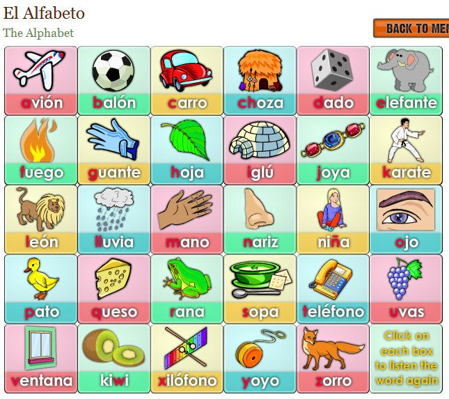 Actividad para practicar el alfabeto – Activity to practice the alphabet