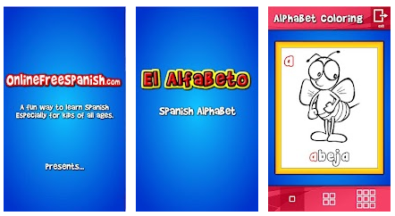 Spanish Alphabet Coloring! – App for Android and Apple!