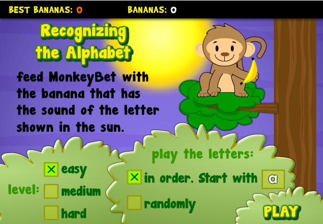MonkeyBet Game, an Excellent Method for Children to Learn Spanish Alphabet