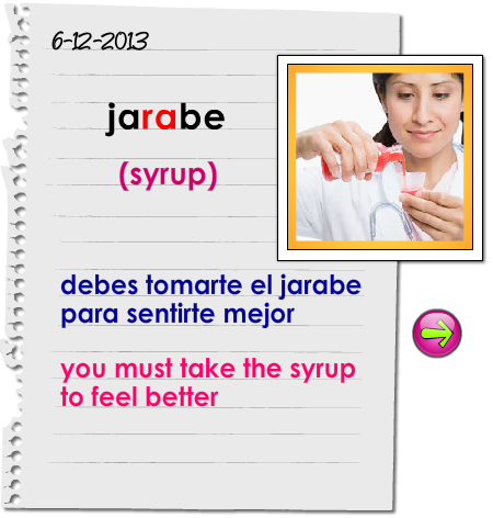 Spanish word of the day! – La palabra del día