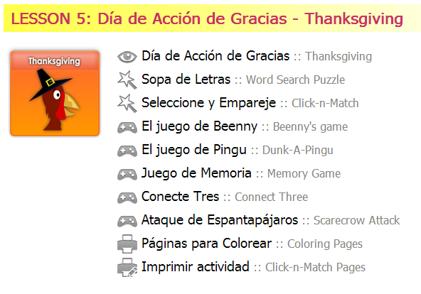 Thanksgiving is here! free Spanish activities!