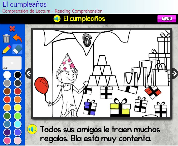 El cumpleaños Comprensión de Lectura – Reading Comprehension