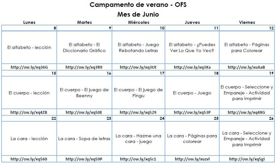 Summer Spanish Activity Packet