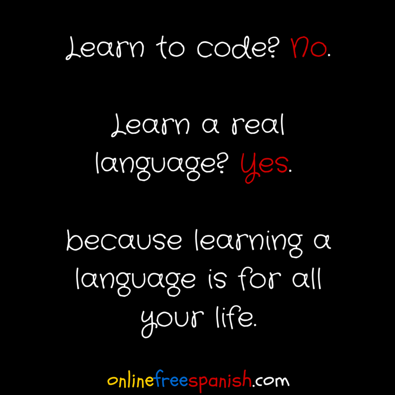 code vs. language