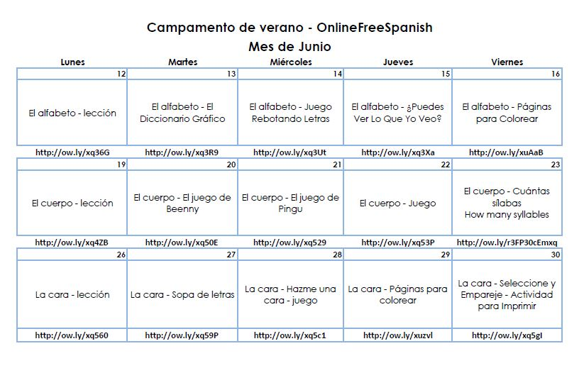 Onlinefreespanish Summer Camp – 2017