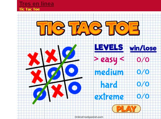 Tres en línea… para iPad y tabletas Android Tic Tac Toe… for iPad and Android