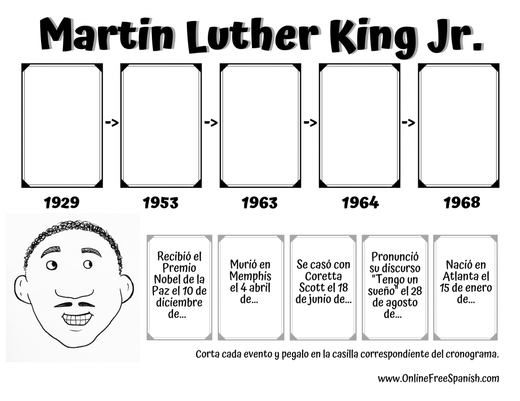 Martin Luther King Jr. Cronograma