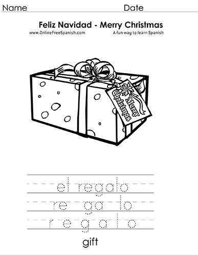 OnlineFreeSpanish.com - Christmas - Navidad - Páginas para Colorear ...