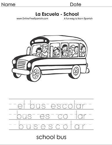 OnlineFreeSpanish.com - La Escuela - The School - Páginas para ...