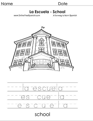 Onlinefreespanishcom La Escuela The School Páginas Para