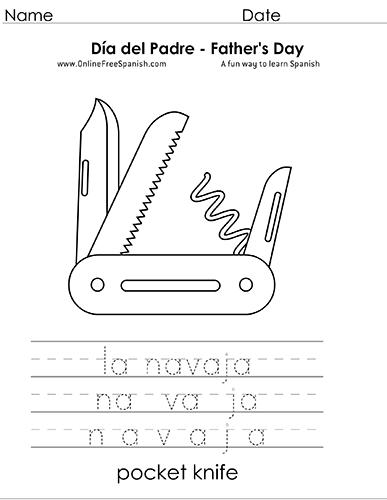OnlineFreeSpanish.com - Día del Padre - Father\'s Day - Páginas para ...