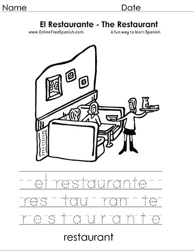 Onlinefreespanishcom El Restaurante The Restaurant Páginas