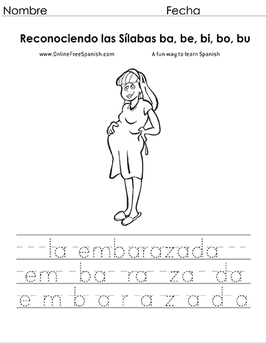 OnlineFreeSpanish.com - Las Sílabas - Syllables - (ba, be, bi, bo ...
