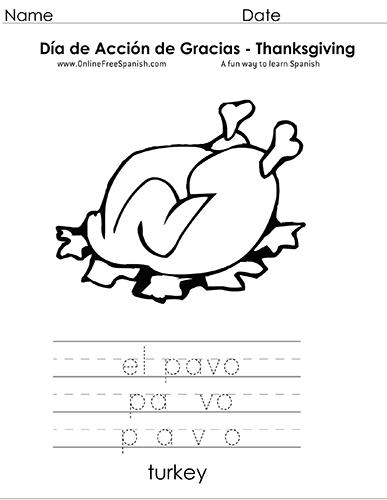 OnlineFreeSpanish.com - Día de Acción de Gracias - Thanksgiving ...