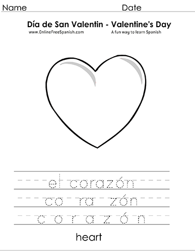 OnlineFreeSpanish.com - Día de San Valentin - Valentine\'s Day ...